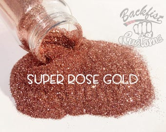 SUPER ROSE GOLD || Opaque Fine Glitter, Solvent Resistant