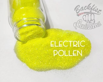 ELECTRIC POLLEN || Neon, Transparent Fine Glitter, Solvent Resistant