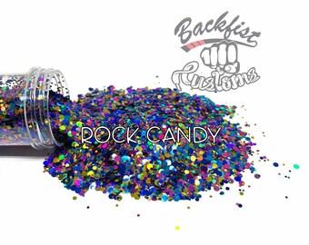 ROCK CANDY DOTS    Multi Shaped  Glitter Dots