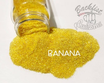 BANANA     Transparent Fine Glitter, Solvent Resistant