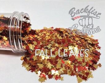 FALL LEAVES ||  Leaf Shaped Glitter