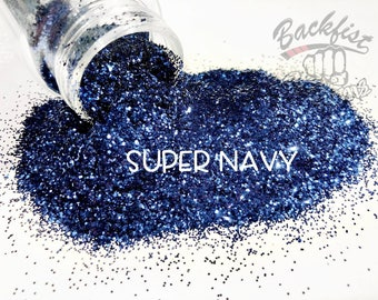 SUPER NAVY    Opaque Chunky Glitter, Solvent Resistant