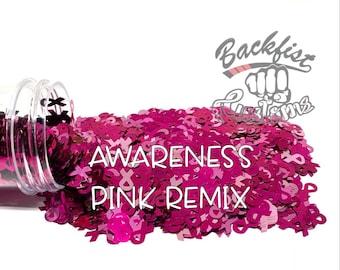 AWARENESS PINK REMIX ||  Exclusive Ribbon Shaped Glitter