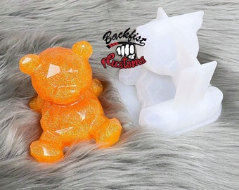 BEAR PHONE HOLDER Silicone Mold  3.7in x 3.2in x 3.5in