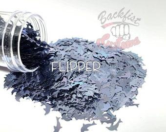 FLIPPER     Dolphin shaped  Glitter