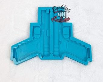 CUSTOM GLITTER GAT Epoxy Mold 7.5in || Adhere together to make a full size decoy