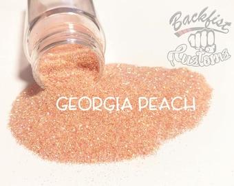 GEORGIA PEACH || Transparent  Fine Glitter, Solvent Resistant