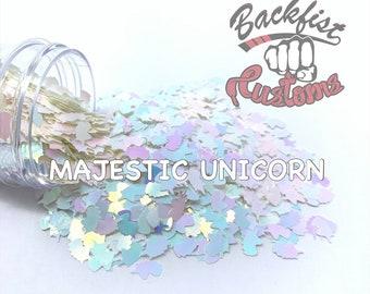MAJESTIC UNICORN || Unicorn Head Shaped Chunky Glitter, Solvent Resistant