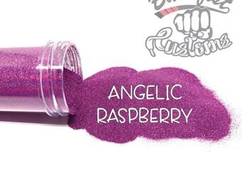 ANGELIC RASPBERRY || Holographic Micro Fine Glitter, Solvent Resistant