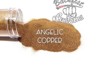 ANGELIC COPPER    Holographic Micro Fine Glitter, Solvent Resistant