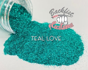 TEAL LOVE  || Opaque Fine Glitter, Solvent Resistant