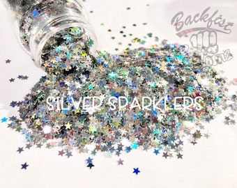 SILVER SPARKLERS    Chunky Glitter, Solvent Resistant