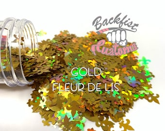 Gold FLEUR DE LIS    Solvent Resistant