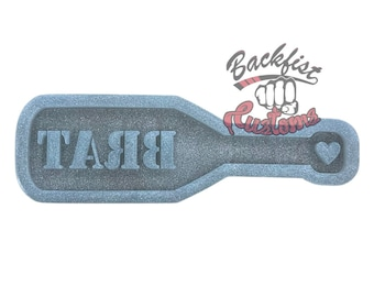 CUSTOM 1/2in Thick BRAT PADDLE Mold 13in x 3.5in || makes 1/2in thick paddle