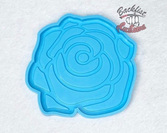 ROSE COASTER 5in x 4.75 mold || 1 Silicone mold