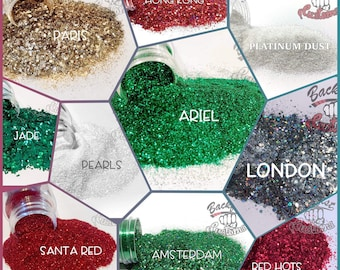 GET READY For CHRISTMAS Theme  Pack || 10 2oz glitters