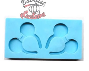 Halves || MOUSE HEADBAND STRAW Topper || Silicone mold