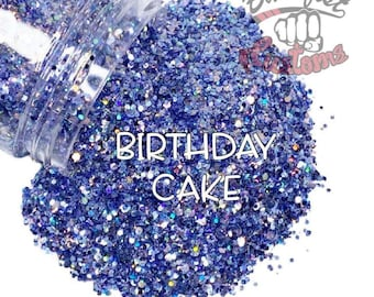 Birthday Cake - Metallic purple/blue mix  || Chunky Mixed Glitter, Solvent Resistant