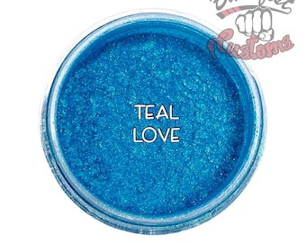 Teal Love Mica Powder  || 5 gram by weight