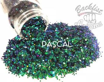 PASCAL ( Blue/Green )  || Solvent Resistant, Chameleon Glitter