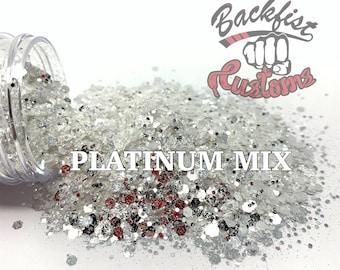 PLATINUM MIX ||  Mixed Glitter Sizes , Diamond Dust Replacement