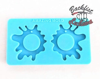 SPLAT EARRING mold || 1 pair of Silicone molds