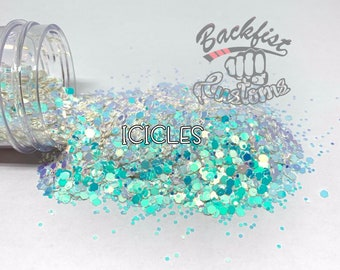 ICICLES || Chunky Glass Glitter, Solvent Resistant