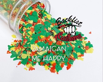 """JAMAICAN ME HAPPY """"Man Glitter""""     No Sparkle Chunky Mixed Glitter"""
