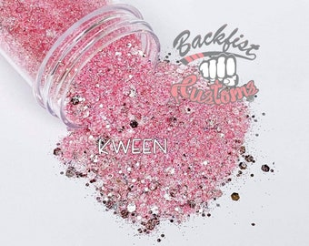 KWEEN || Chunky Glitter Mix, Solvent Resistant