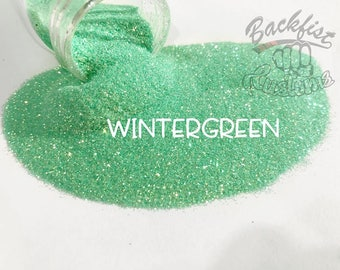 WINTERGREEN     Transparent Fine Glitter, Solvent Resistant