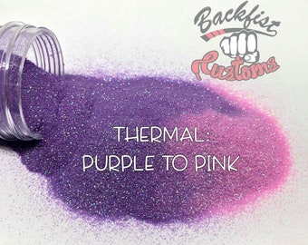 THERMAL PURPLE to PINK || Heat Activated Glitter changes from Purple to Pink