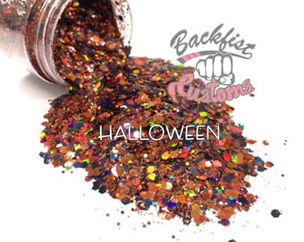 HALLOWEEN   || Solvent Resistant, Chunky Mix Holographic Glitter
