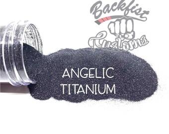 ANGELIC TITANIUM    Holographic Micro Fine Glitter, Solvent Resistant
