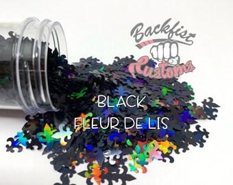 Black FLEUR DE LIS || Solvent Resistant