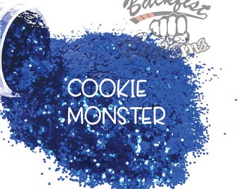 COOKIE MONSTER || Opaque Chunky Glitter, Solvent Resistant