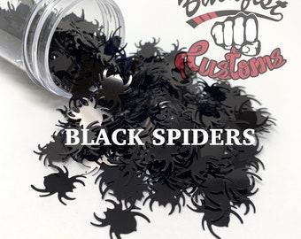 BLACK SPIDERS || Spider Shaped Glitter