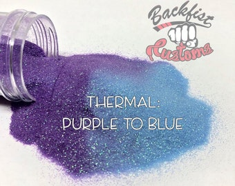 THERMAL PURPLE to BLUE || Heat Activated Glitter changes from Purple to Blue