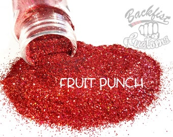 FRUIT PUNCH    Opaque Chunky Glitter, Solvent Resistant