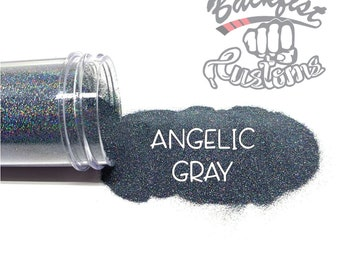 ANGELIC GRAY    Holographic Micro Fine Glitter, Solvent Resistant