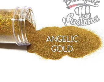 ANGELIC GOLD || Holographic Micro Fine Glitter, Solvent Resistant