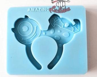 MONSTER HEADBAND Keychain mold|| 1  Silicone mold