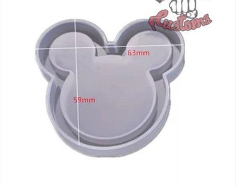 DIY MOUSE Head SHAKER with film 2.4in || Shaker Silicone mold