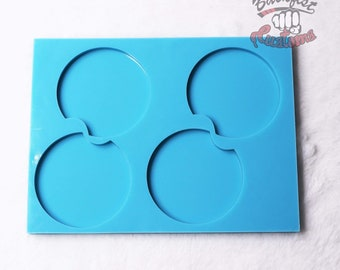 CUSTOM Large Car Coaster 4 Pack Mold whole mold 8in x 6in coasters 2.75  12.7 oz
