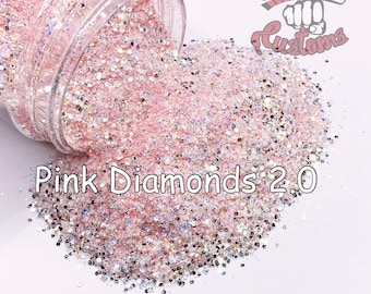 Pink Diamonds 2.0 || 1/128 Glitter, Solvent Resistant