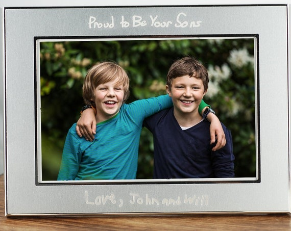 Personalized Photo Frame for Mom, Engraved Frame for Dad, Personalized Picture Frame, Christmas Gift for Mom , Dad, Mother's Day Gift,