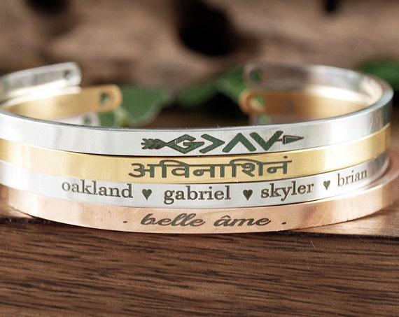 Engraved Cuff Bracelet, Custom Engraved Cuff, Engraved Cuff Bracelet, Personalized Gift, Engraved Bracelet, Custom Name Bracelet