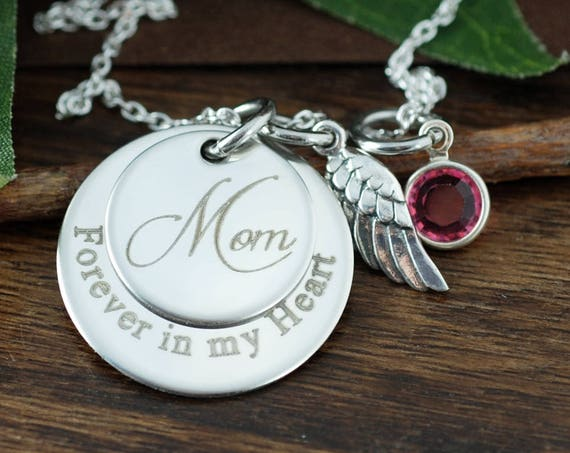 Forever in my Heart, Personalized Memorial Necklace, Remembrance Necklace, Loss Jewelry, Engraved Jewelry, Memorial Jewelry, Miscarriage