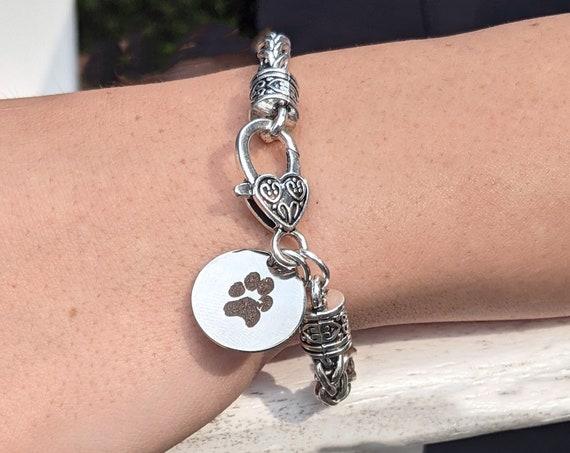 Actual Dog Paw Bracelet, Actual Paw Print Bracelet, Dog Paw Jewelry, Dog Paw Print Keepsake, Loss of Pet