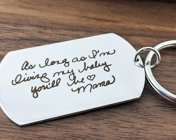 Handwriting Jewelry Actual Handwriting Keychain Gift for Her Personalized Handwriting Gift Gift for Daughter Memorial Signature Sentimental