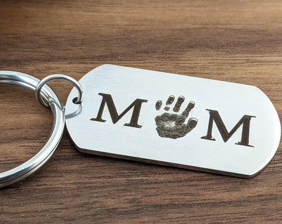 New Dad Gift, New Mom Gift, Actual Hand Print Keychain, Memorial Keychain, Hand Print Jewelry, Memorial Jewelry, Children's Hand Print